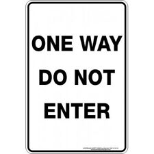 Safety Sign  ONE WAY DO NOT ENTER