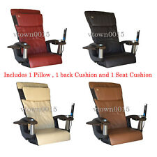 HT138 Leather pad Set/Upholstery/Back Pillow Seat for Massage Spa Pedicure Chair