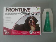 4 MONTH SUPPLY ~ FRONTLINE PLUS for DOGS 89 - 132 lbs - EPA Approved - BRAND NEW