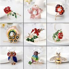 Enamel Brooch Pin Flower Mermaid Crystal Pearl Broach Diy Wedding Bride Bouquet