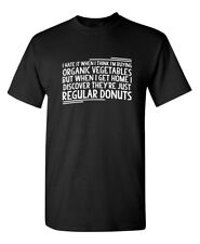 VEGETABLES DONUTS Sarcastic Graphic Gift Idea Adult Humor Funny Novelty TShirt