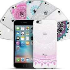 Case for Apple iPhone Protective Mandala Henna Motif Slicone Cover