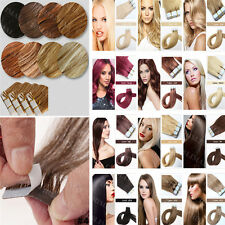 Ombre Tape in Remy Human Hair Extensions 8A Seamless PU Skin Weft hair 16-20inch