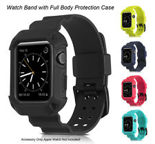 For Apple Watch 38mm 42mm Sports Silicone Bracelet Wrist Strap Replacement Band