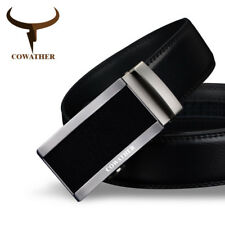 COW GENUINE FASHION LEATHER BELTS FOR MEN AUTOMATIC BUCKLE STRAP CINTO MASCULINO