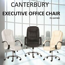 New Office Chair Canterbury Executive Premium PU Faux Leather Computer Work