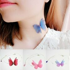 Charm Vivid Butterfly Pendant Necklace Choker Fish Line Chain Women Jewelry New