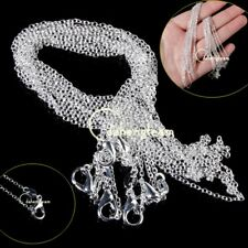 "100Pcs/Lots Wholesale Silver Plated 1mm Rolo Chain Necklace 16"" 18"" 20"" 22"" 22"""