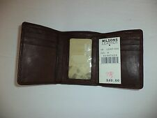WILSONS LEATHER PELLE STUDIO MENS BROWN SOFT LEATHER TRIFOLD WALLET UNUSED