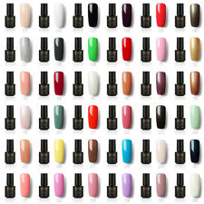 New 58 Color Fashion Soak Off UV Color Gel Polish Nail Polish Base Top Coat 7ml