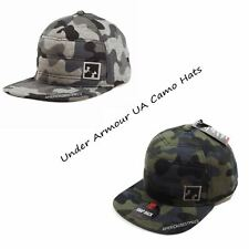 UNDER ARMOUR UA NEW MENS QUILTED SNAP BACK CAMO HAT CAP NWT GRAY/GREEN