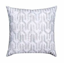 Grey Blue Modern Ikat Throw Pillow, Valdo Regal Blue Decorative Throw Pillow