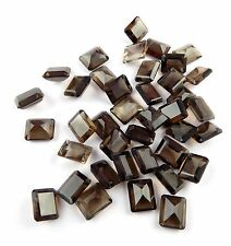 Wholesale Lot AAA Natural Smoky Quartz Rectangle 6x8mm Normal Cut Loose Gemstone