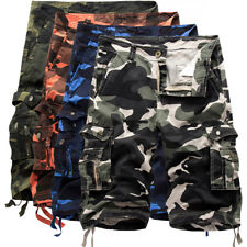 NEW MENS ARMY MILITARY CARGO SHORTS COTTON HALF PANTS CAMOUFLAGE BAGGY TROUSERS