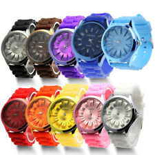 Unisex Men Women Hot Stylish Silicone Quartz Sport Geneva Jelly Wrist Watch