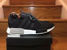 Adidas NMD R1 Runner Nomad Boost S76847 Black Tan White Men Size:11.5