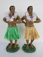 Hula Dashboard Doll Man Tiki 50s Rockabilly Hawaii Hibiscus Sexy Boy Wobbler