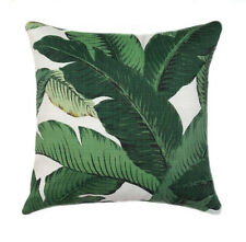 Tommy Bahama Swaying Palms LINEN Decorative Pillow Cover, Dark Green Pillow Case