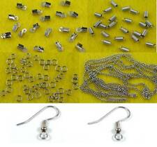 Jewelry Making Parts Feather Earring Findings:Hooks/Chains/Jump Rings/Cord Ends