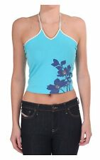 Women's Ted Baker Womens Halter Neck Top With Floral Print Aqua