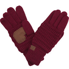 Funky Junque C.C Touch Screen Smart Soft Knitted Solid Color Gloves