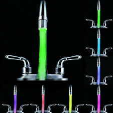 Temperature Sensor 3 Color Kitchen Water Tap Faucet RGB Glow Shower LED Light