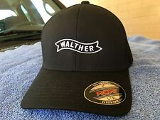 Walther Arms Logo Embroidered Flexfit Ball Cap Hat Black, Olive Green or Navy