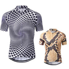 Men's Full-Zip Short Sleeve Cycling Jersey Shirt Quick Dry Breathable Clothing