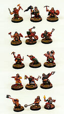 28mm Scale Pro-Painted Fantasy Dwarf Warriors Miniatures-Ganesha Games