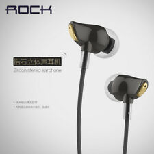 ROCK Nano Zircon Stereo Earphone Headset 3.5mm Headset Earbuds With Mic & Remote