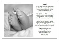 Personalised Childs/Babies Naming day Ceremony Poem gift - Non-religious