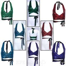 Womens Mermaid Tank Tops Fish Scale Print Yoga Swim Savage Wrap Bra Role Costume