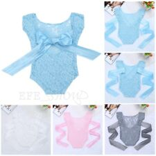 Newborn Baby Girl Lace Romper BOW Bodysuit Photo Photography Prop Party Costumes