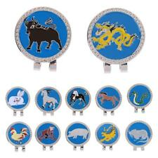 Chinese Zodiac Pattern Golf Magnetic Visor & Hat Clip with Golf Ball Marker