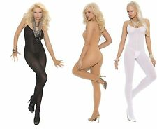 Elegant Moments ✿ Bodystocking W/Spaghetti Straps ✿ EM-1601 ✿ Black/Nude/White