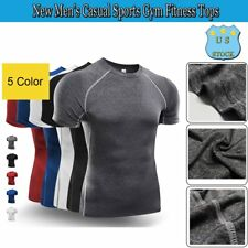 New Men's Casual Sports Gym Fitness Tops Training T-Shirts Short Sleeve T-Shirts