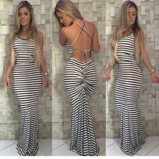 Women HOT Sleeveless Maxi Dress Party Evening Beach Summer Boho Long Sundress