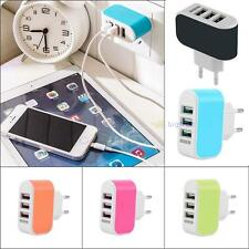 3 Ports EU Plug USB Wall Travel AC LED Charger Adapter For Samsung Galaxy S6 #BT