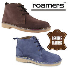 "Roamers ""Tracy"" Ladies Suede Desert Boots Casual Womens Leather Combat Shoes"