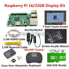 Raspberry Pi 3 16GB/32GB Display Starter Kit with 7inch 1024*600 Touch Screen