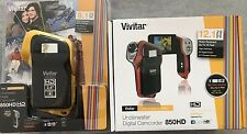 New Vivitar DVR-850HD Underwater Video Digital Camcorder Deluxe Kit - Yellow/Red