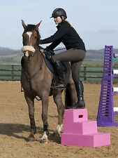 Classic Show Jumps 3-STEP MOUNTING BLOCK- PORTABLE mount aid 4 your horse CL359