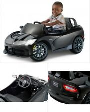 Black Ride On Car 6V Electric Dodge Viper Style Battery Power Wheels Kids Toy