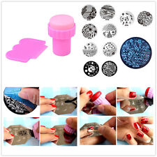 DIY Nail Art Stamp Template Image + 10pcs Stamping Plate Manicure Stencil
