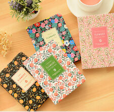 Cute Floral Notebook School Office Planner Journal Book Personal Diary Note Pad
