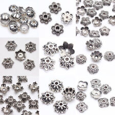 100Pc 200Pc Tibetan Silver Bead Caps Spacer Beads Jewelry Findings Crafts DIY