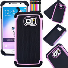 Hybrid Rubber Shockproof Rugged Hard Armor Cover For Samsung Galaxy Phone Case