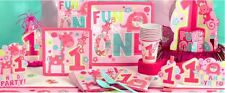 WILD AT ONE GIRLS BIRTHDAY PARTY TABLEWARE SUPPLIES  BABY BIRTHDAY DECORATIONS