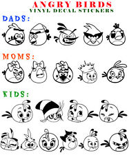 Angry Birds Vinyl Decal Sticker Car Window Art Game Create Family Dads Moms Kids