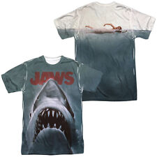 JAWS 1975 Vintage Movie Poster 2-Sided Sub Poly Licensed Adult T-Shirt SM-3XL